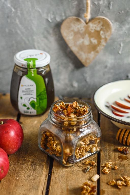 granola z miodem