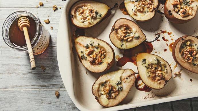 pieczone gruszki z miodem